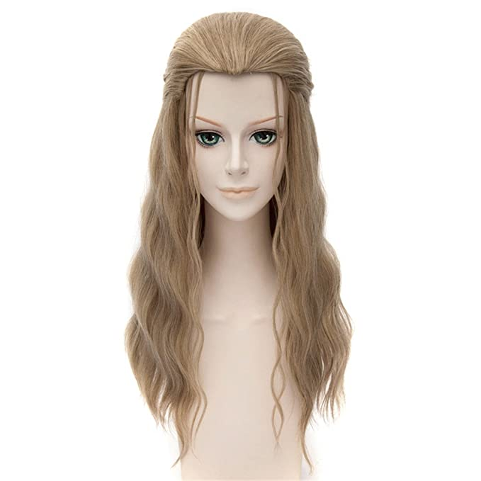 LanTing Cosplay Peluca The Avengers 2 Scarlet Witch Brown Long Styled Woman Cosplay Party Fashion Anime Human Costume Full wigs Synthetic Cabello Heat ...