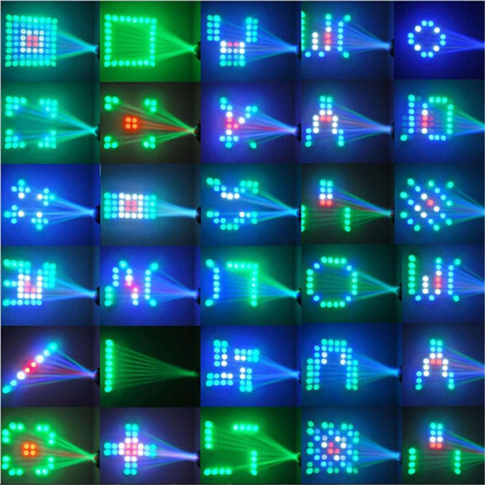 Auto /& Son Lumi/ère de projecteur pour DJ Party Wedding Club Pub KTV Festnight Motif LED Lampe d/étape RGBW 64pcs LED 2 modes de contr/ôle