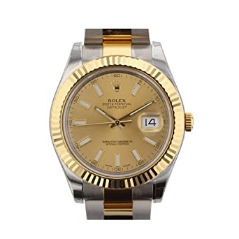 Amazon.com Rolex Datejust II 41mm Champagne Dial Gold Men\u0027s