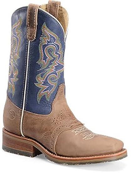 d48fa0d33d7 Amazon.com : Double H Men's Alamo Arena Brown Saddle Vamp With ...