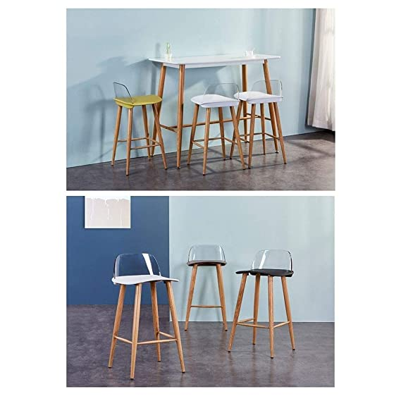 Amazon.com: QQXX AGLZWY Dining Chairs Counter Height Bar ...