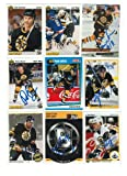 Boston Bruins Lot of 9 Autographed Cards. You will receive all cards in the picture. This Lot includes:Peter Douris, Stephane Quintal, Cam Stewart, Grigori Panteleyev, Dave Thomlinson, Darren Banks, Bob Sweeney, John Byce & 1 Other on a team card. Autogra