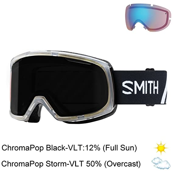 06a6497bf426 Amazon.com   Smith Optics Riot Goggle - Women s Black Firebird Frame  ChromaPop Sun Platinum Mirror Yellow   Sports   Outdoors