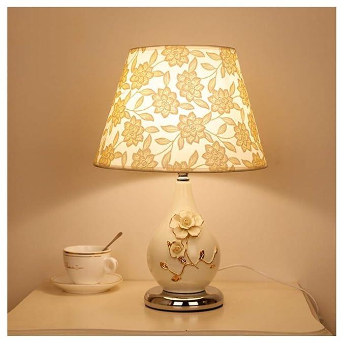 Ceramica Regalo Creativo Calda Lampada da Comodino Soggiorno Interruttore A Pulsante da Camera Lampada da Tavolo Lampada da Scrivania Haiming Colore : Pulsante Classe Energetica A ++