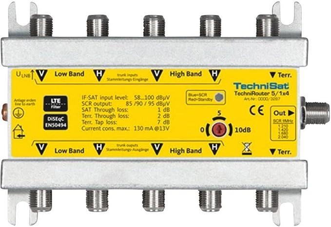 Technisat 0000 3287 Technirouter 5 1 X 4 Digitale Einkabellösung Für 4 Teilnehmer Heimkino Tv Video