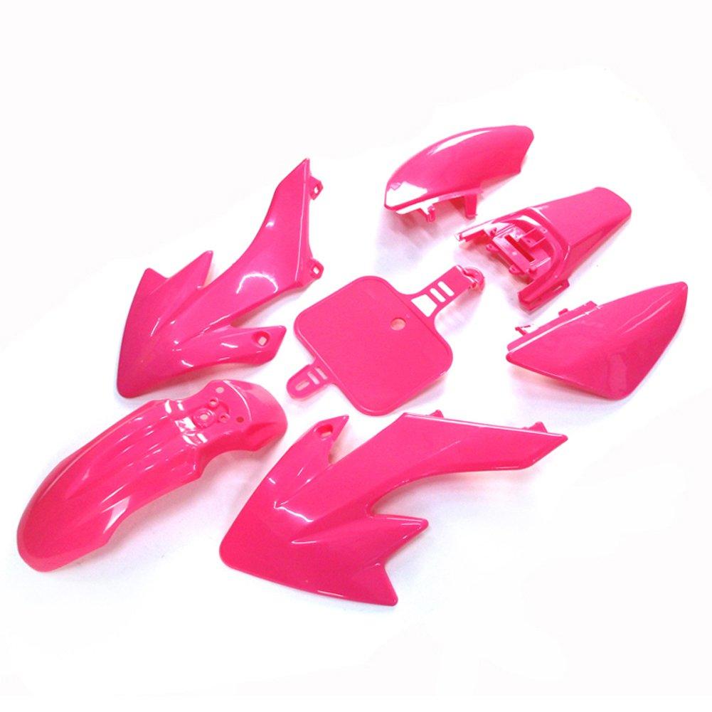 TC-Motor Pink Plastic Fender Fairing Kit For Honda XR50 CRF50 Chinese 50cc 70cc 90cc 110cc 125cc 140cc 150cc 160cc Dirt Pit Bike