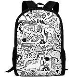 SDEYR79 Vintage Laptop Backpack For Women Men,Communication Dinosaurs School College Backpack Fashion Backpack