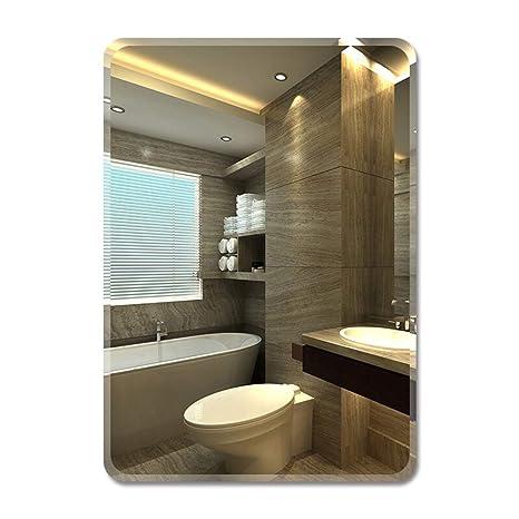 Fissaggio Specchio Bagno.Specchi Da Toilette A Parete Rettangolo Specchio Bagno Senza