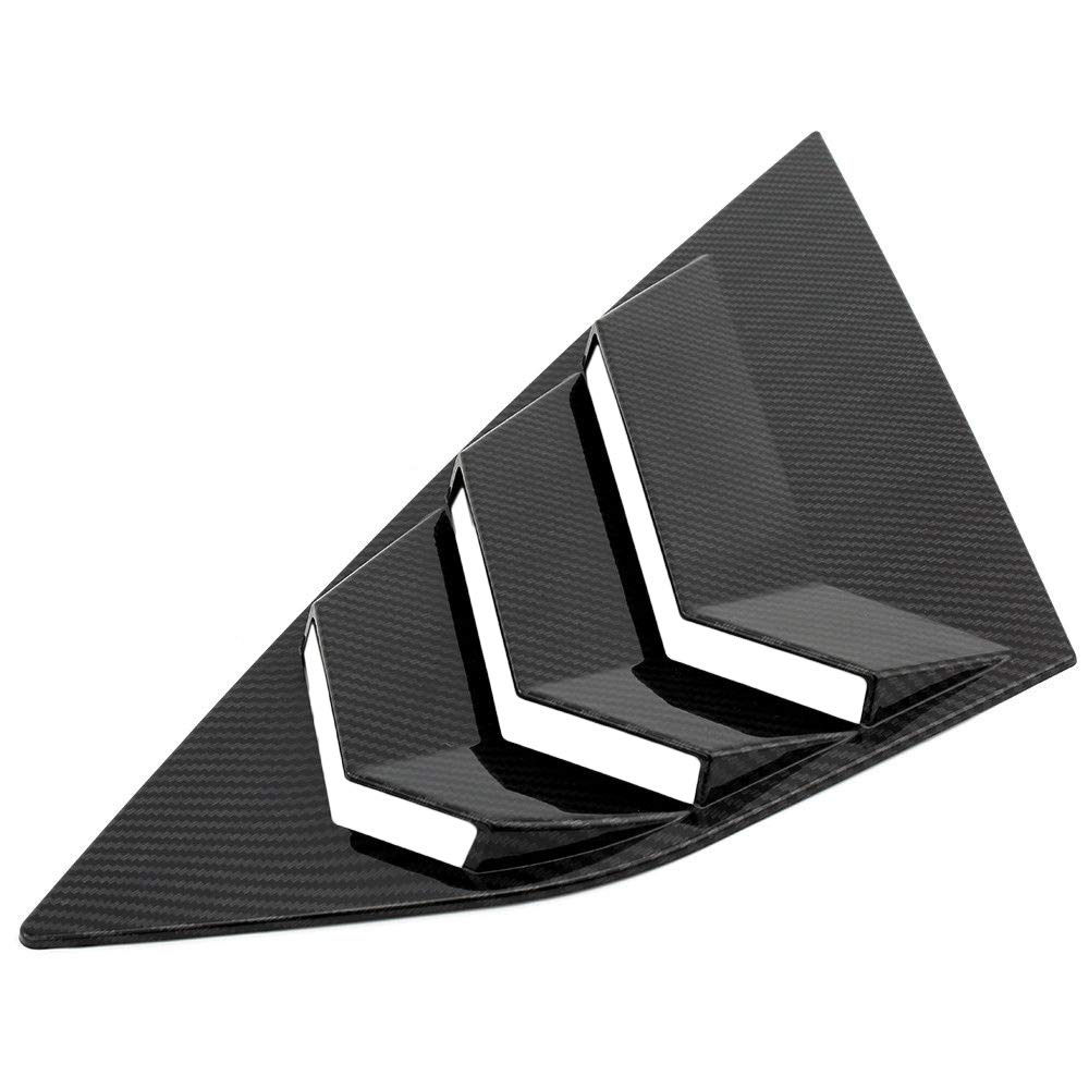 Tickas Car Rear Window Louvers Blinds Side Tuyere Louvers Vent for Focus ST RS MK3