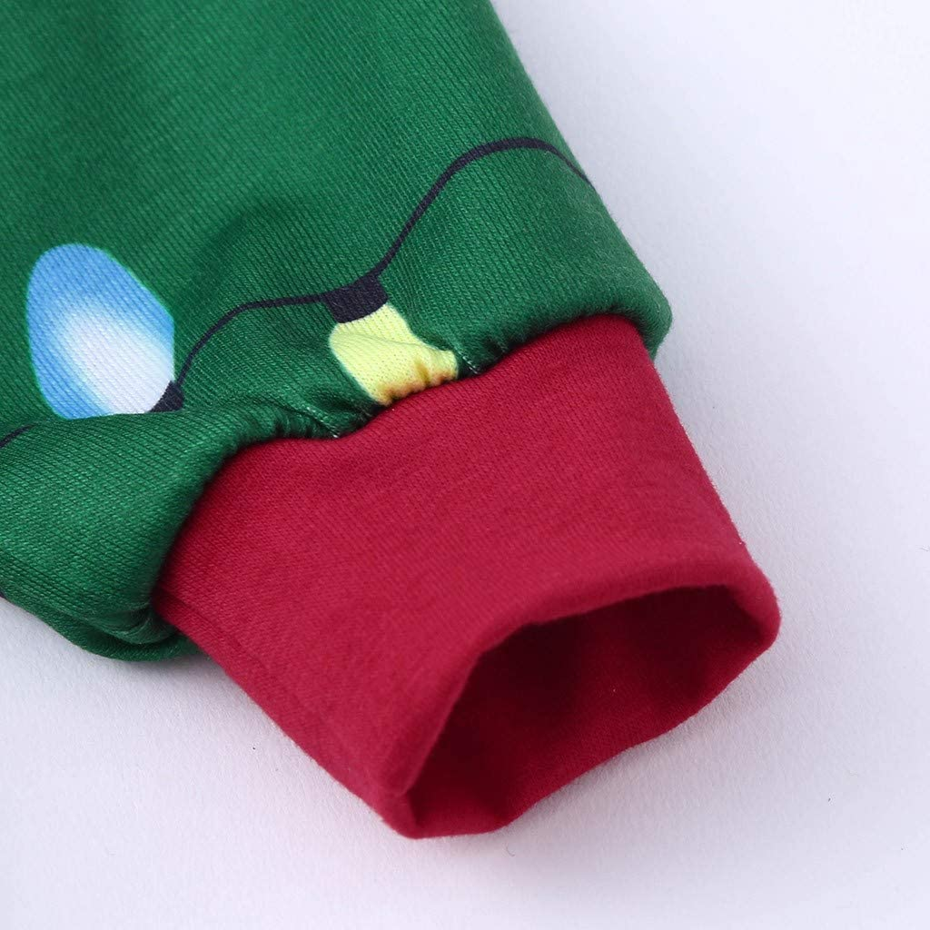 SoonerQuicker Pigiama Natalizio Famiglia A Righe Baby Donna Uomo Quadri Pajamas Natale con Bottoni Pigiami Interi Family Christmas Elegante Outfit Set Invernale