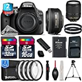 Holiday Saving Bundle for D3300 DSLR Camera + 18-140mm VR Lens + 35mm 1.8G DX Lens + 2yr Extended Warranty + 32GB Class 10 Memory + 16GB Class 10 + 4PC Macro Filter Kit - International Version