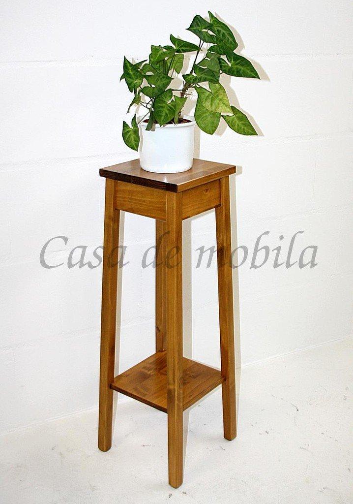 Casa Blumenhocker Blumentisch 80cm Beistelltisch Massivholz Honigfarbe