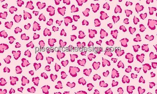 """2"""" Round ~ Pink Cheetah Print Background ~ Edible Image Cake/Cupcake Topper!!!"""