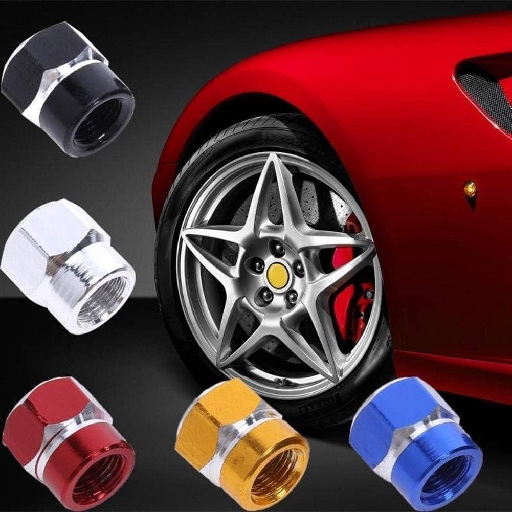 Color : Black Keine Marke Gro/ßhandelsventilkappen 4Pcs Aluminium-Auto-Tr/äger-Rad-Reifen Ventilkappen Staubabdeckungen Auto Motorrad Airtight Stem Fahrrad-Luftkappen Car Styling