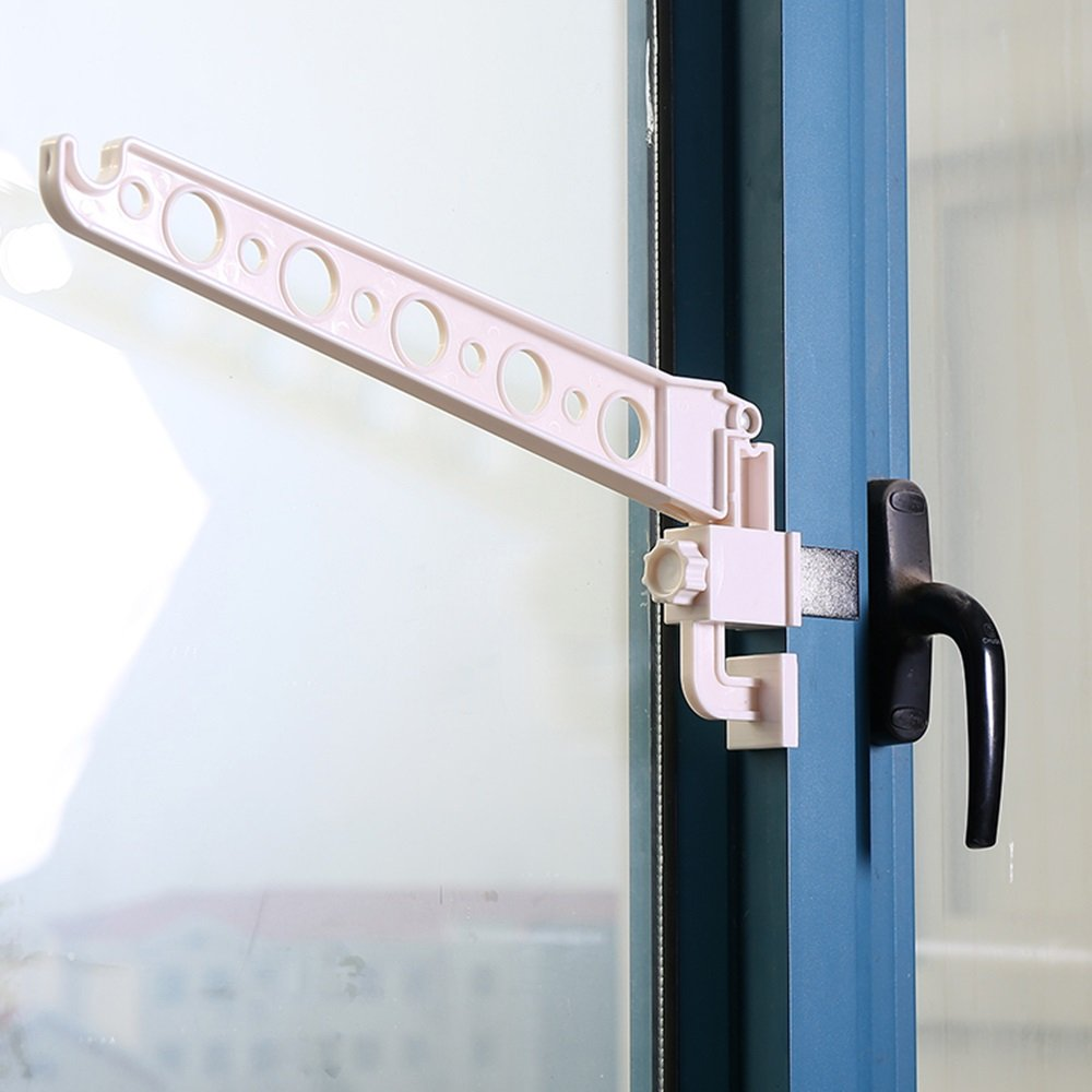 Snap-in plastic hangers/doors and windows clothes rack/multi-function, simple and practical (Style : A)