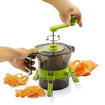 Cortador de Verduras Picadora de Verduras Manual Picadora de Alimentos para Picar Frutas Frutos Secos Hierbas Cebolla para la Salsa Ensalada: Amazon.es: ...