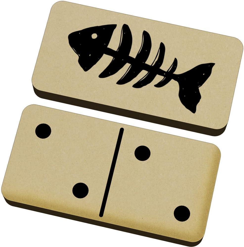 Azeeda Espinas de Pescado Domino Juego y Caja (DM00009212): Amazon.es: Juguetes y juegos