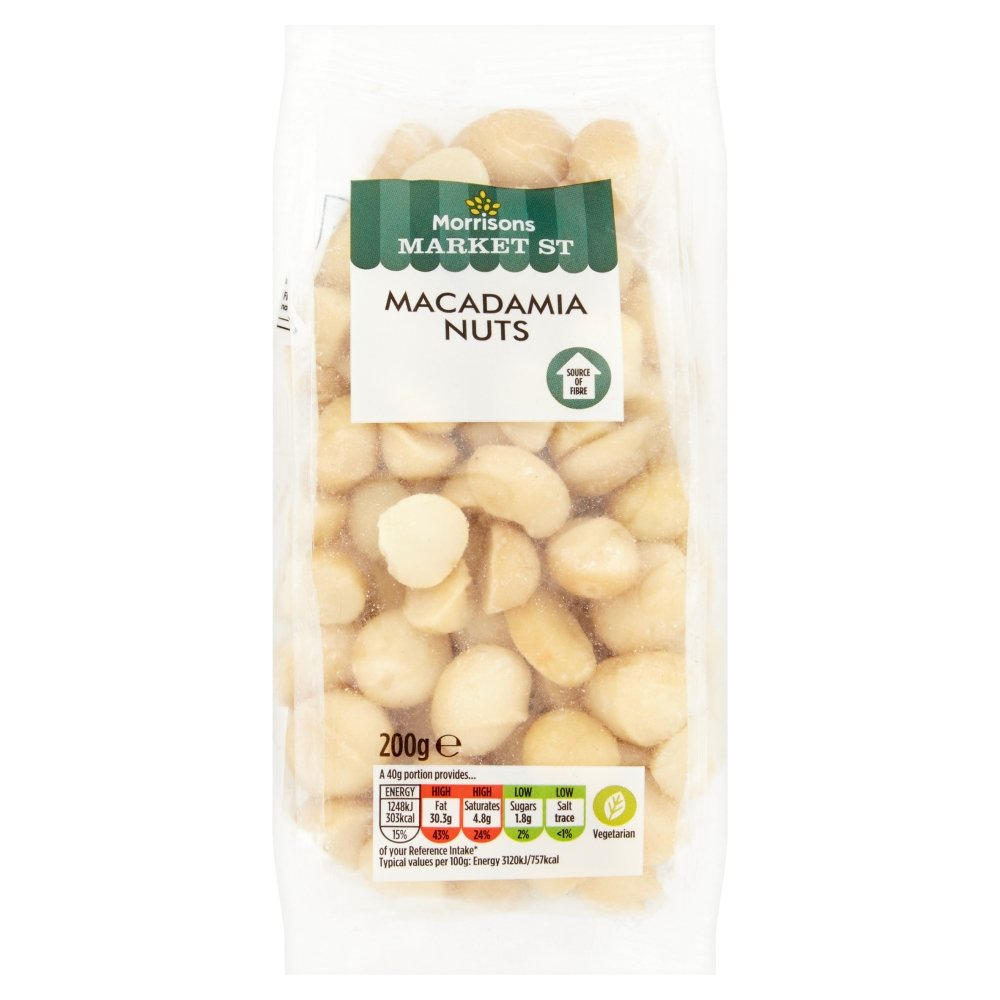Morrisons Macadamia Nuts, 200g: Amazon.co.uk: Prime Pantry