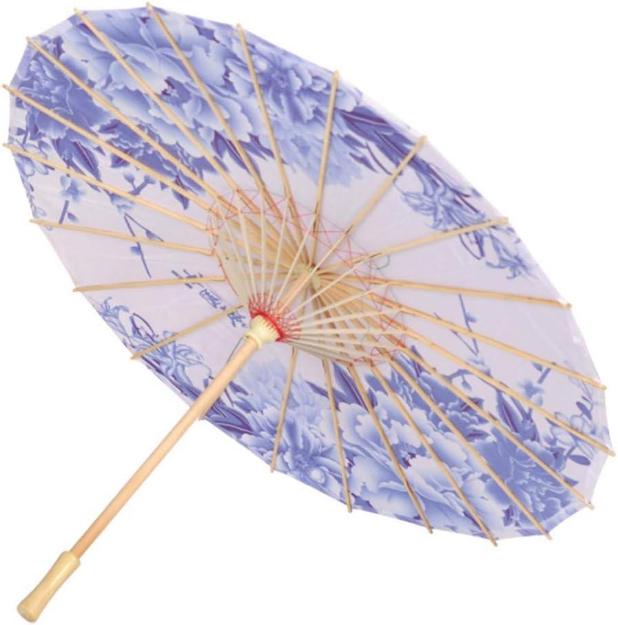 Desconocido 1 pcs Paraguas Paraguas de Tela de Seda Paraguas Decorativo Paraguas de Papel