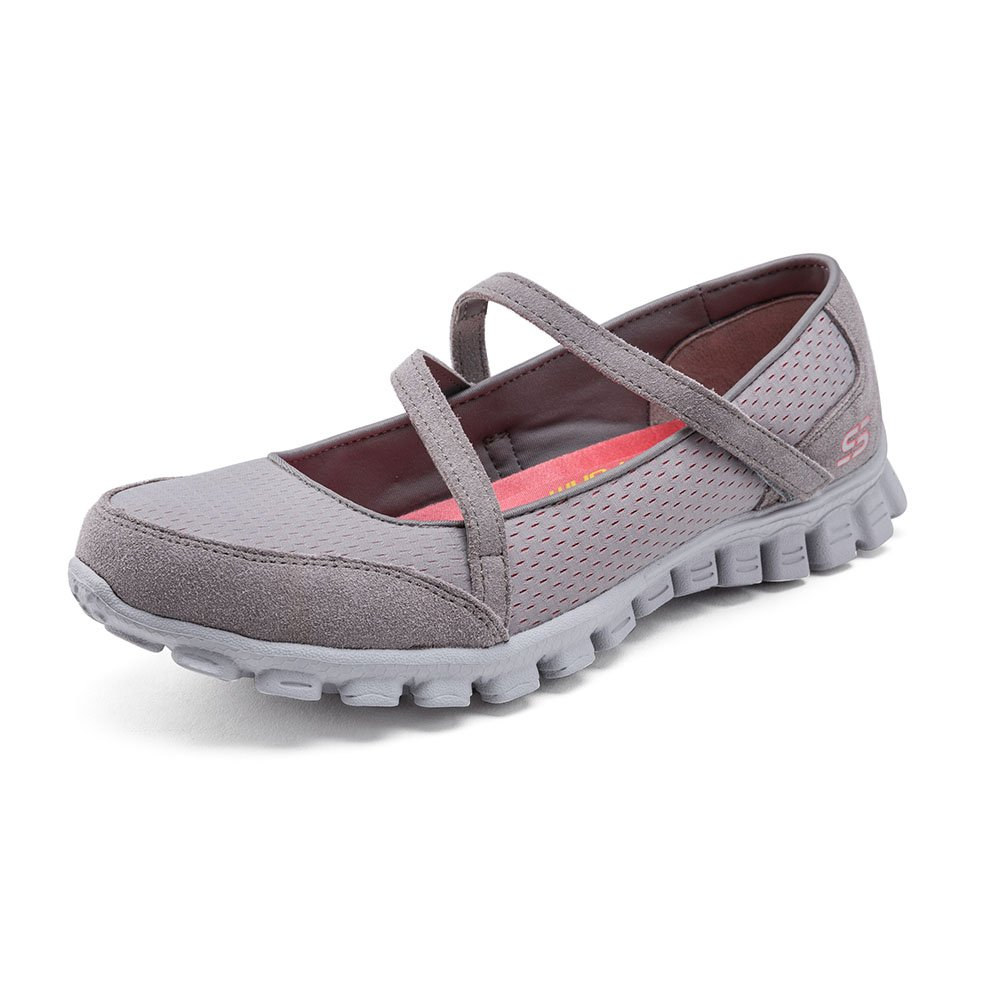 Skechers Ez Flex 2 A Game Damen Mary Jane Halbschuhe  41 EU|Grau - Gris (Gycl)