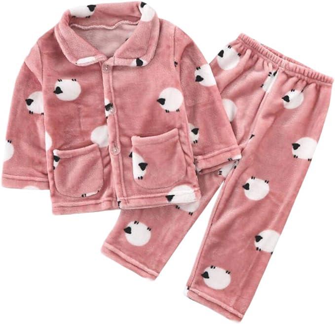 DEBAIJIA Baby Home Wear 2-12T Child Housecoat Kid House Clothes Toddler Pajamas Infant Sleepwear Unisex Nightwear Warm Flannel