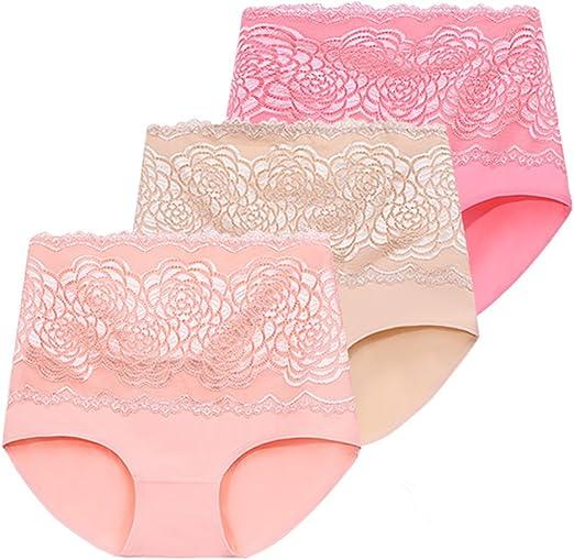 WENJUN Ropa Interior De Mediana Edad De Algodón De Mujer Panty ...