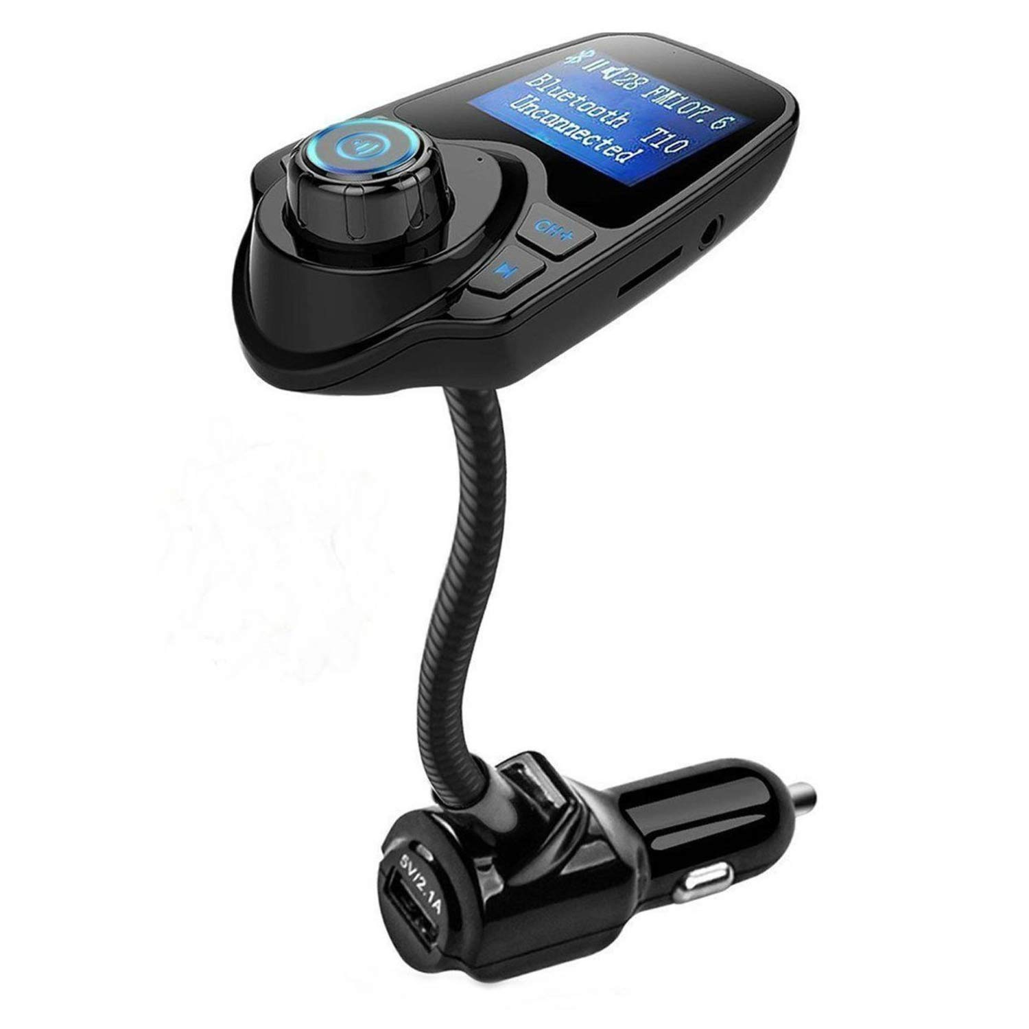 FM Transmitter Ann Bully Wireless Bluetooth FM Transmitter Car Kit Radio Receiver with 5V//2.1A USB Charger Output Support USB Flash Driver and Micro SD Card AUX Output and Input 4352717234