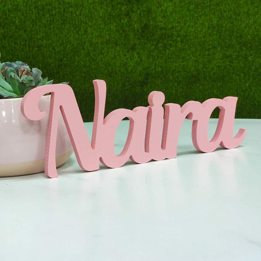 DONLETRA® Nombres Decorativos Personalizados para Pared y Mesa, Decoración para Habitación Infantil, Boda, Comunión de Niños, Fiesta de Cumpleaños