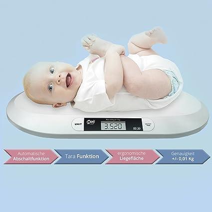 Báscula digital para bebé, hasta máximo 20 kg de peso