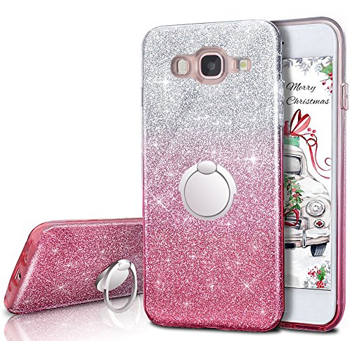 reputable site ad95f 4cc7f Galaxy J3 V / J3V Case,Galaxy Sky / Amp Prime / Express Prime / J3 / Sol  Case With 360 Rotating Ring Stand,Silverback Girls Bling Glitter Protective  ...