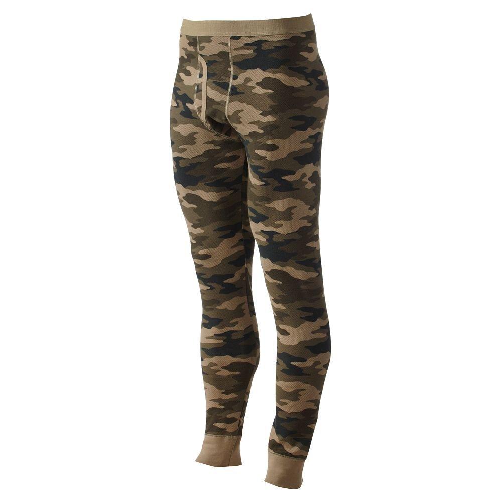 Croft & Barrow Solid Thermal Underwear Pants Green Camo XX-Large by Croft & Barrow