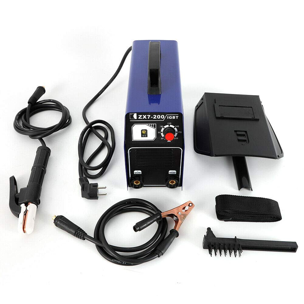 Yiyiby - Soldador eléctrico profesional de electrodos, máquina de soldadura DC Inverter 120 A ZX7-200 MMA ARC: Amazon.es: Bricolaje y herramientas
