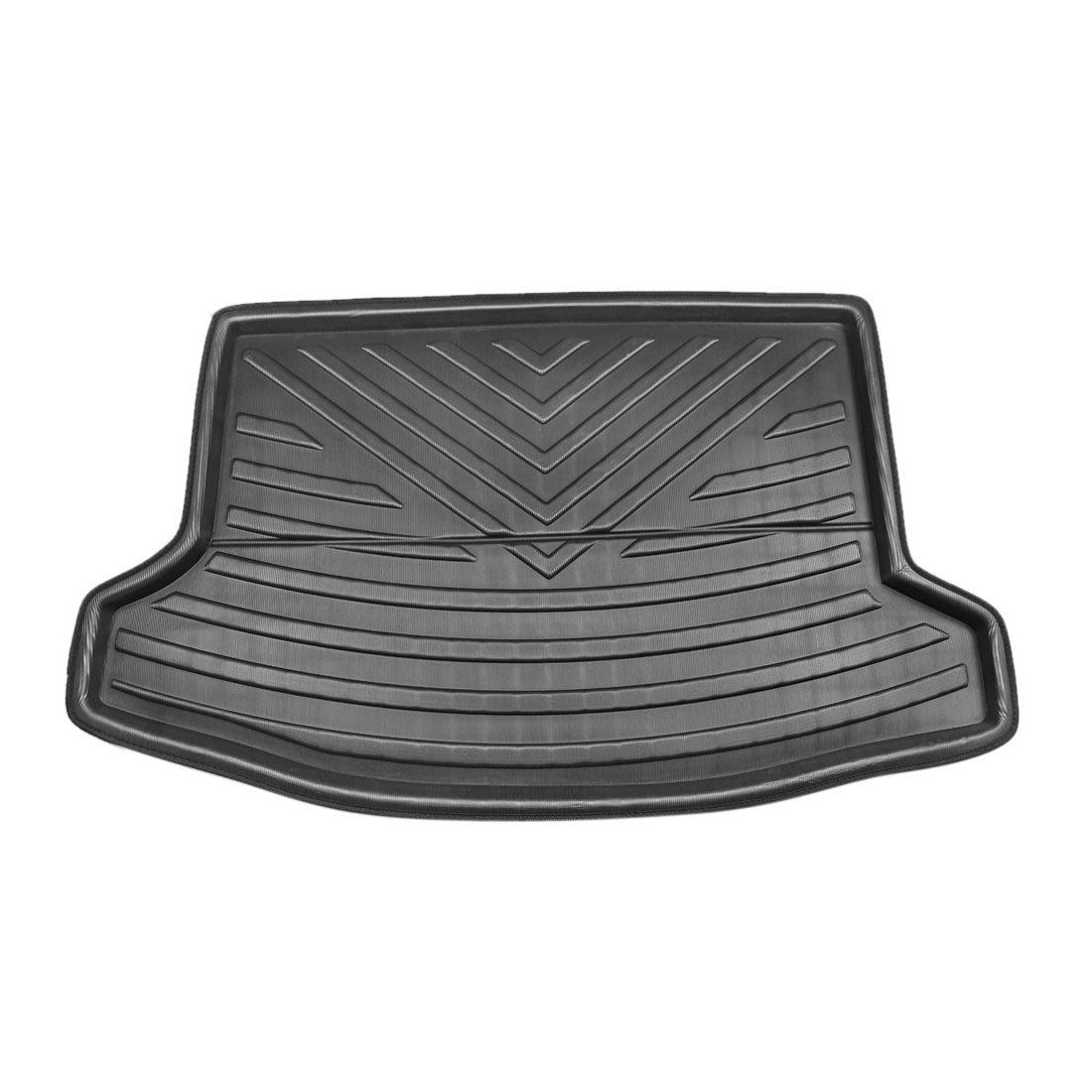 X AUTOHAUX Black Rear Trunk Boot Liner Cargo Mat Floor Tray for Subaru XV Crosstrek 12-17
