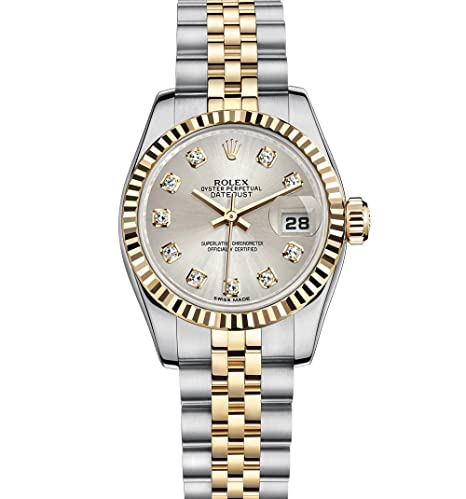 Rolex Datejust Lady 26 mm acero inoxidable y amarillo dorado reloj con dial de plata diamante caja/documentos unworn 178274: ROLEX: Amazon.es: Relojes