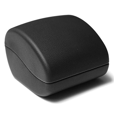 SODIAL Caja de Joya de Anillo Caja para Joyeria Regalo de Boda compromiso Negro con luz LED