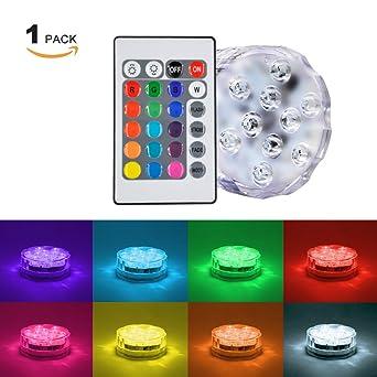 Princeway 1X Paket Ferngesteuert Neuheit LED Lampen Batterie Betrieben RGBY  LED Dekoleuchte Dimmbar 16