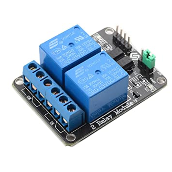 amazon com sunfounder 2 channel dc 5v relay module with optocoupler rh amazon com 2 channel relay board connection sainsmart 2 channel relay board