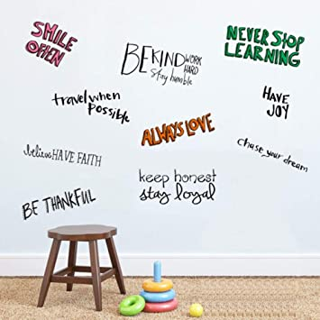 Image of: Cool Amazoncom Inspirational Attitude Wall Quotes Decals For Kids Rooms Assorted Quote Stickers Stay Humble Work Hard Never Stop Learning Motivational Home Amazoncom Amazoncom Inspirational Attitude Wall Quotes Decals For Kids Rooms