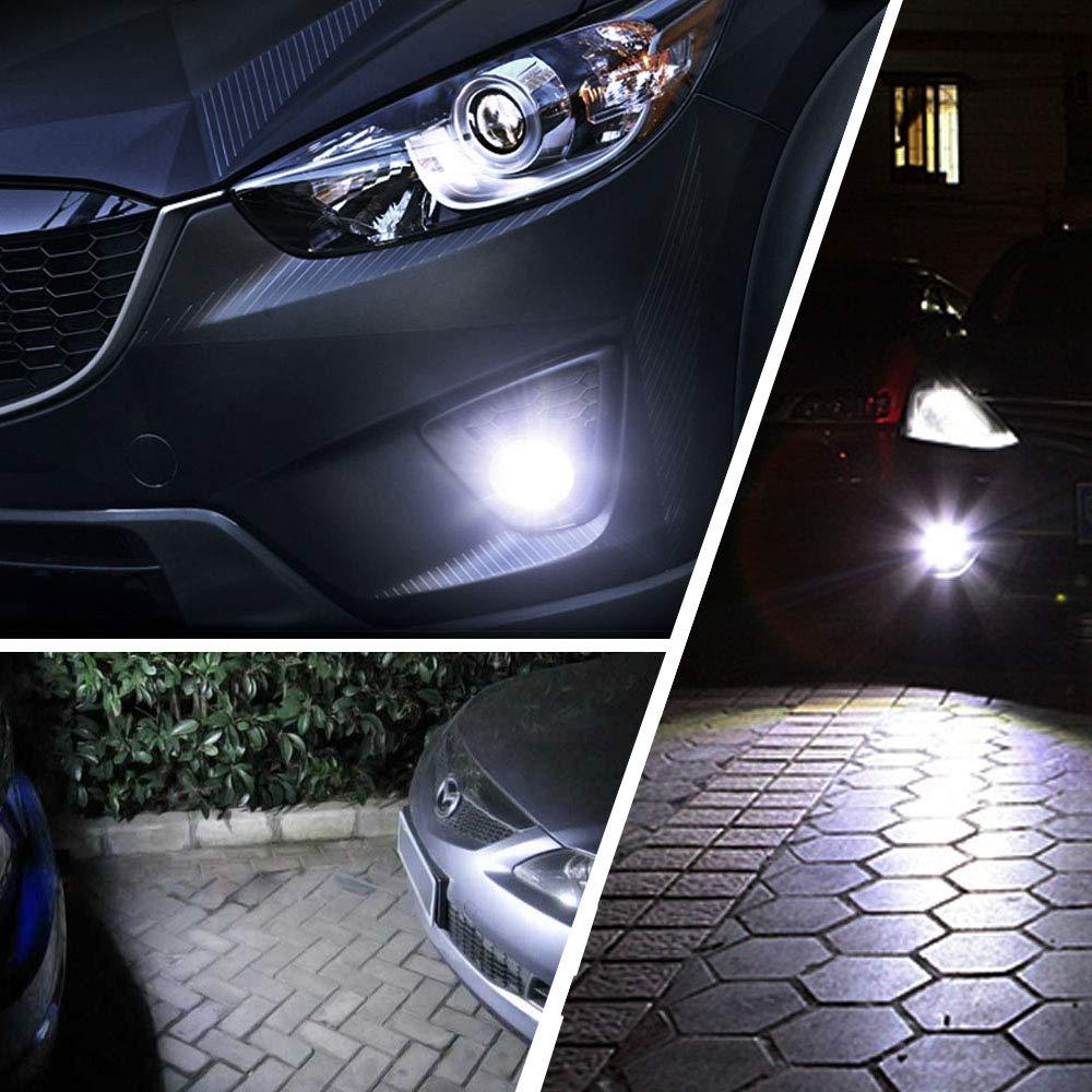 CCAUTOVIE Car LED Fog Light Bulbs H1 Daytime Runing Lights DRL 80W 6000K White
