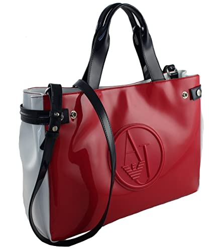 Armani Jeans Tasche Henkeltasche Shopper Bag 922548 Rot Weiss Blau