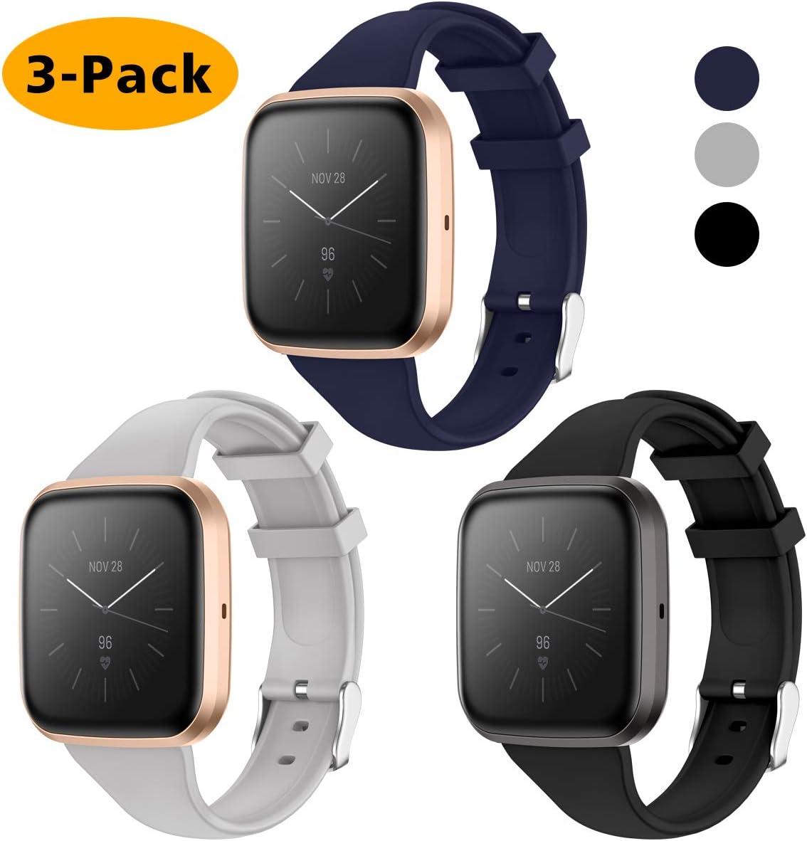 Quadratische Schnalle Schlank Ersatzband Uhrenarmband f/ür Fitbit Versa Special Edition Smartwatch KIMILAR Armband Kompatibel mit Fitbit Versa//Versa 2 //Versa Lite//SE Armb/änder Silikon