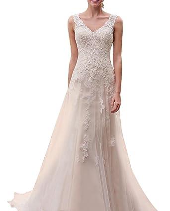 Kevins Bridal V-Neck Lace Wedding Dresses 2017 Long Bridal Gowns ...