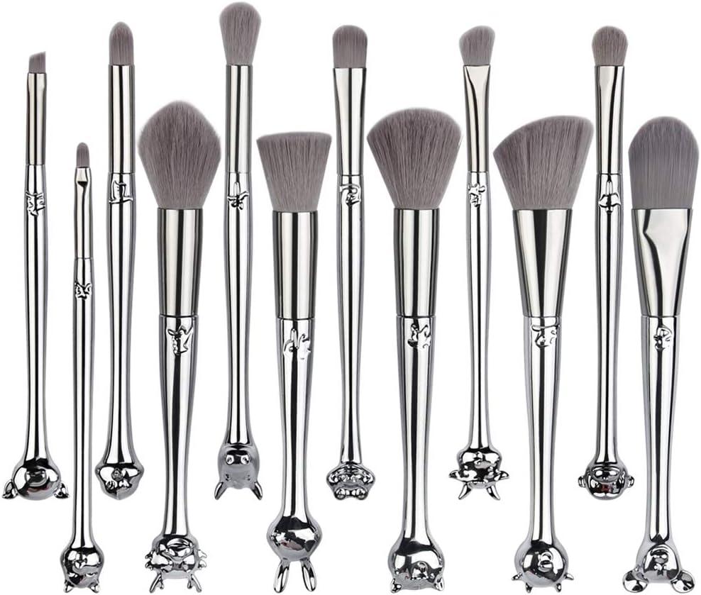 JIAOJIAO 12Pcs Zodiac Makeup Brushes Set Foundation Powder Blending Eyeshadow Cute Make Up Brush Cosmetics Tool with Box