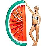 Riesiges Aufblasbares Wassermelone Pool Floß Spielzeug Schwimmring Luftmatratzen 180*90*20cm Pusheng