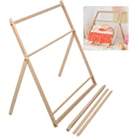 isilky Wooden Multi-Craft Weaving Loom Large Frame 9.85x 15.75x 1.3inches to Handcraft for Kids