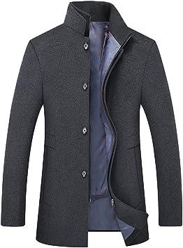 冬の暖かいウールのコートの男性の厚いオーバーコートトップコートビジネスカジュアルプラスサイズのシングルブレストジャケット