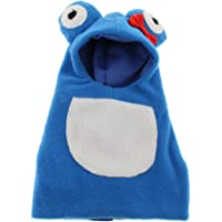 Flameer Cartoon Frog Cotton Coat Pullover Sweater Breathable with Waterproof Inner Layer for Budgie Parakeet Cockatiel Conure Cockatoo African Grey Macaw