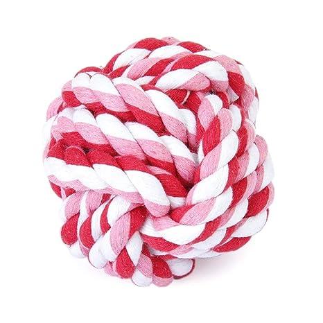 AAGOOD Cuerda Creativa Perro Bola de algodón Durable Cuerda de ...