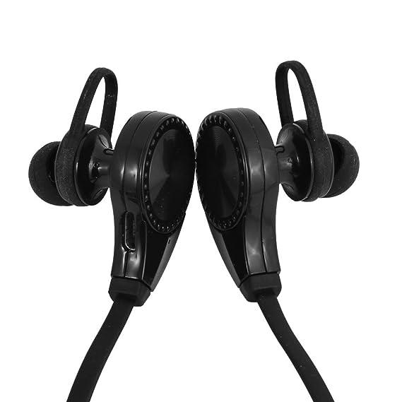 Amazon.com: eDealMax Deporte sudor Prueba de reducción de ruido auriculares estéreo inalámbrica Bluetooth Negro: Electronics