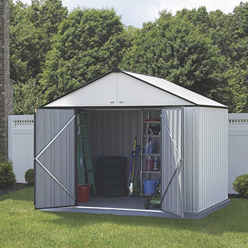 arrow-ezee-shed-extra-high-gable-steel-storage-shed-creamcharcoal-trim-10-x-8-ft